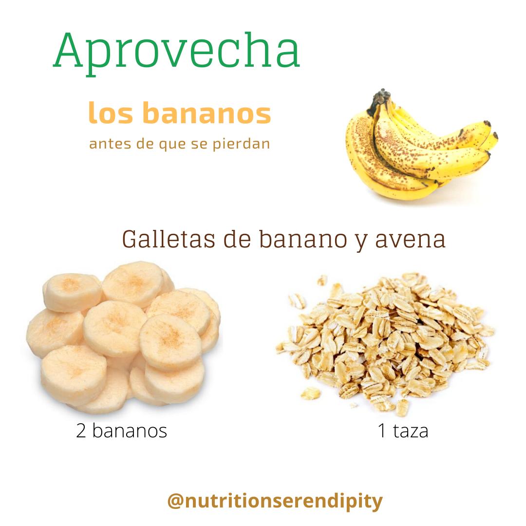 Galletas banano avena