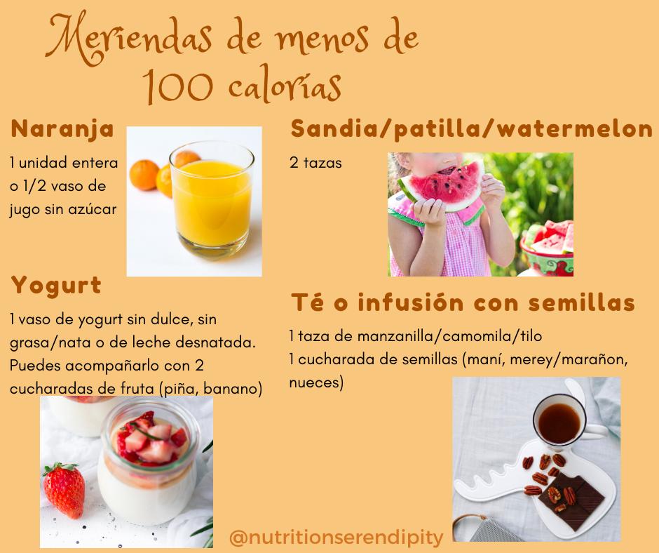 Meriendas menos de 100 calorias