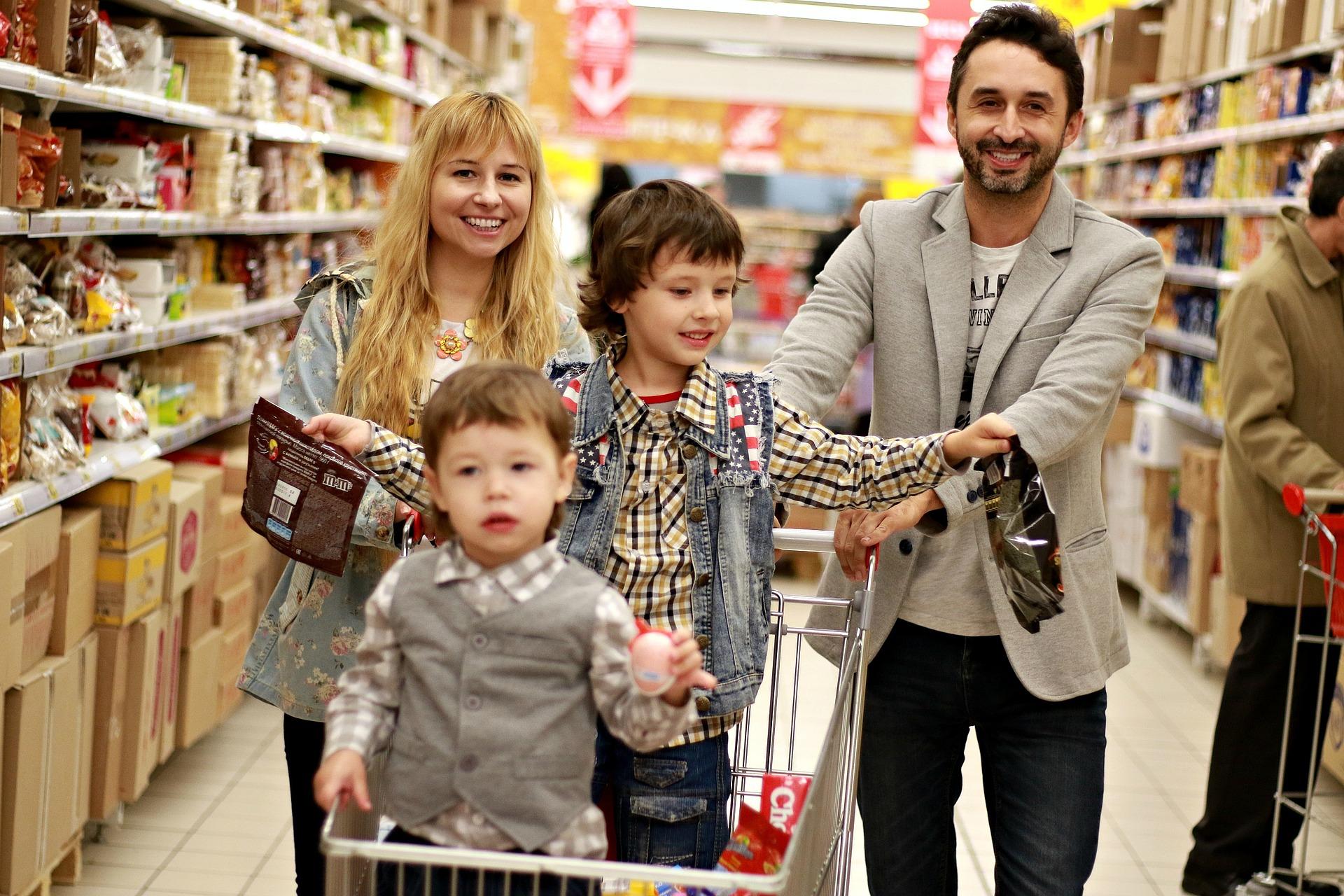 familia supermercado