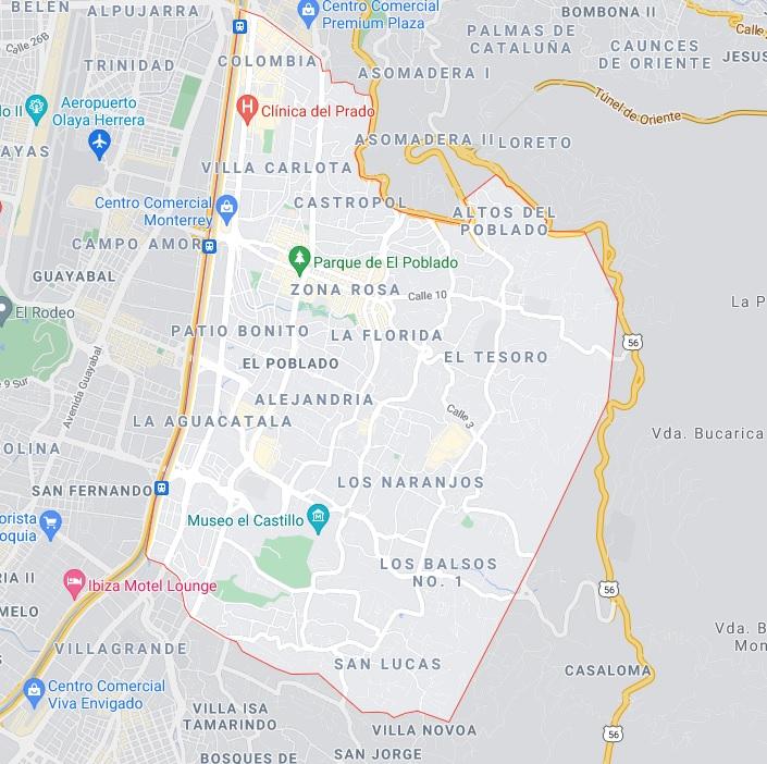 google maps el poblado